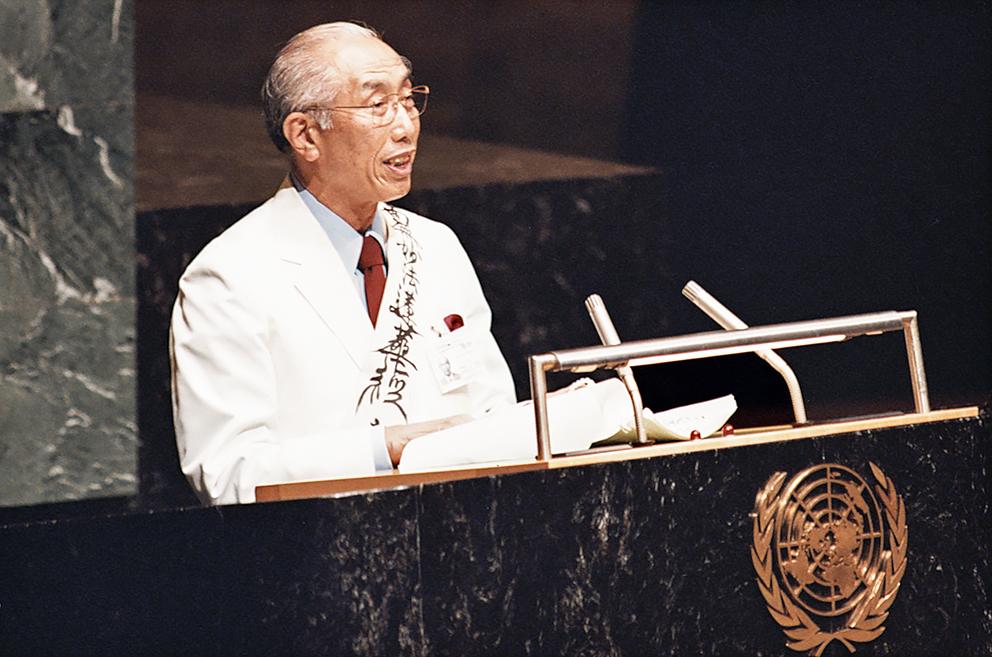 核なき世界」の実現に向け 本会が国連に寄託した100万ドルの基金の ...